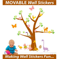 Tree with Cute Animals Wall Stickers - Totally Movable | Buy Home Decoration Products Online With the Best Deals at Anbmart.com.au!