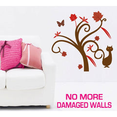 Medium Size Gorgeous Tree and Cat Wall Stickers - Totally Movable | Buy Home Decoration Products Online With the Best Deals at Anbmart.com.au!