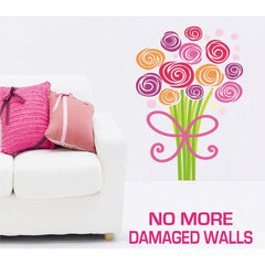 Large Size Bouquet of Flowers Wall Stickers - Totally Movable | Buy Home Decoration Products Online With the Best Deals at Anbmart.com.au!