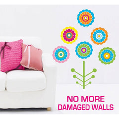 Extra Large Size Colourful Flower Tree Wall Stickers - Totally Movable | Buy Home Decoration Products Online With the Best Deals at Anbmart.com.au!