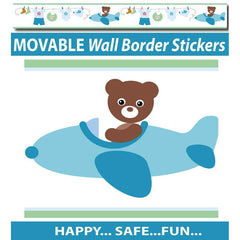 Boy's Blue Bears Wall Border Stickers - Totally Movable | Buy Home Decoration Products Online With the Best Deals at Anbmart.com.au!