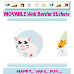 Cute Kittens Wall Border Wall Stickers - Totally Movable | Buy Home Decoration Products Online With the Best Deals at Anbmart.com.au!