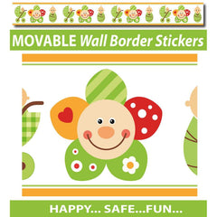 Smiley Flower Face Wall Border Stickers - Totally Movable | Buy Home Decoration Products Online With the Best Deals at Anbmart.com.au!