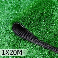 Artificial Grass 20 SQM Polypropylene Lawn Flooring 1X20M Green | Buy Artificial Grass & Greenhouses Products Online With the Best Deals at Anbmart.com.au!