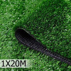 Artificial Grass 20 SQM Polypropylene Lawn Flooring 1X20M Olive Green - Artificial Grass & Greenhouses - ANB Mart