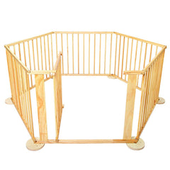 Baby Natural Wooden Playpen | Buy Baby Safety Products Online With the Best Deals at Anbmart.com.au!