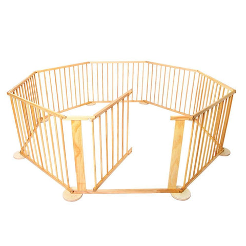 Baby Natural Wooden Playpen - Baby Accessories - A&B Mart Australia - 1
