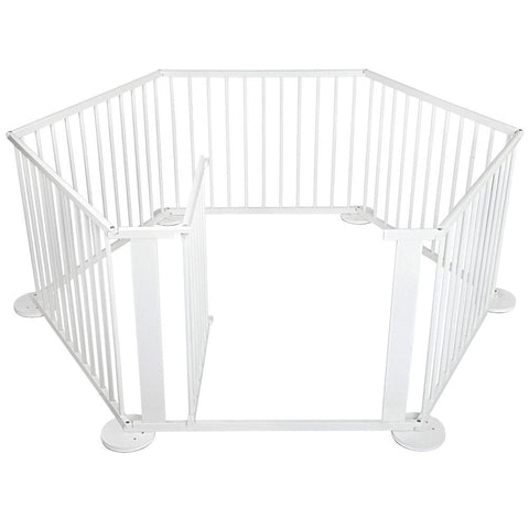 Baby Natural White Wooden Playpen - Baby Accessories - A&B Mart Australia - 1