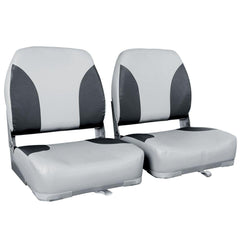 Set of 2 Swivel Folding Marine Boat Seats Grey Black | Buy Boats & Kayaks Products Online With the Best Deals at Anbmart.com.au!