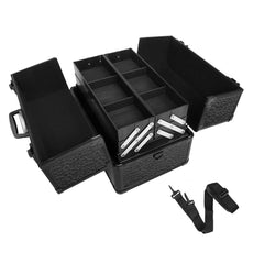 Portable Beauty Makeup Case Crocodile Black | Buy Cosmetic & Jewelleries Storage Products Online With the Best Deals at Anbmart.com.au!