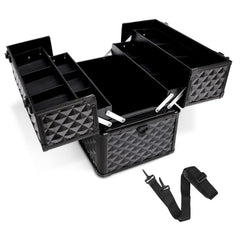 Portable Beauty Makeup Case Diamond Black | Buy Cosmetic & Jewelleries Storage Products Online With the Best Deals at Anbmart.com.au!
