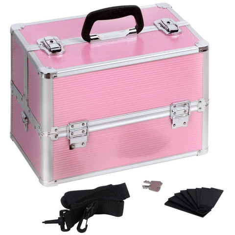 Portable Cosmetic Beauty Make Up Carry Case Box Pink - Makeup - A&B Mart Australia - 1