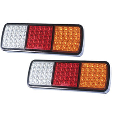 PAIR LED TAIL STOP INDICATOR COMBINATION LAMP SUBMERSIBLE LIGHT 12V ADR 75LED - Torches & Lights - ANB Mart