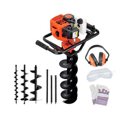 88cc Petrol Post Hole Digger Earth Auger Drill Kit Set - Industrial & Power Tools - ANB Mart
