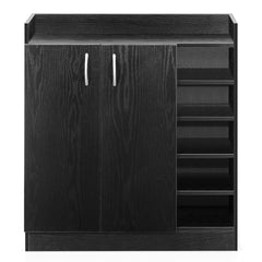 2 Doors Shoe Cabinet Storage Cupboard Black | Buy Storage & Organisation Products Online With the Best Deals at Anbmart.com.au!