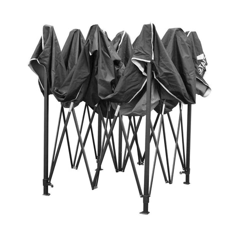 3m x 3m Pop-up Garden Outdoor Gazebo Black - Gazebos, Marquees & Canopies - ANB Mart