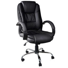 Executive PU Leather Office Computer Chair Black - Office Furniture - ANB Mart