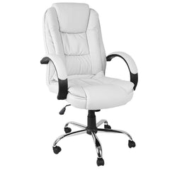 Executive PU Leather Office Computer Chair White | Buy Office Furniture Products Online With the Best Deals at Anbmart.com.au!