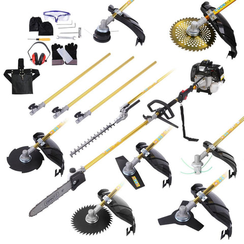 65cc 9 In 1 Petrol Pole Chainsaw Hedge Trimmer Whipper Snipper Pruner - Tools & DIY - A&B Mart Australia - 1