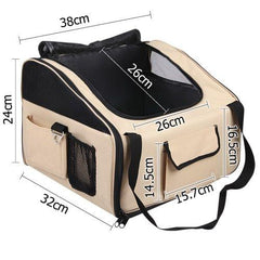 Pet Dog Cat Car Seat Carrier Travel Bag Small Beige | Buy Cats & Dogs Products Online With the Best Deals at Anbmart.com.au!