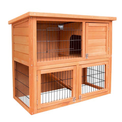 Double Storey Rabbit Hutch - Ferrets, Hutches & Small Animals - ANB Mart