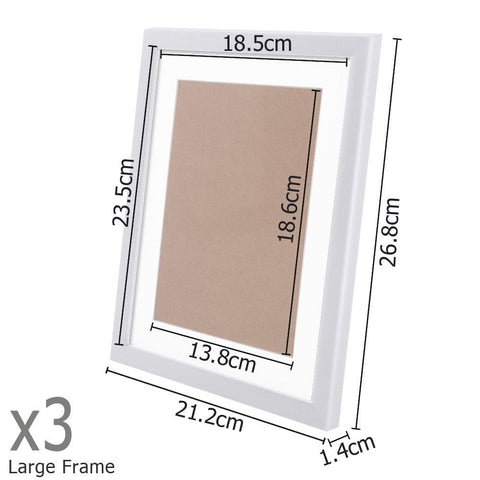 23 pcs Photo Frames Set Wall White - Home Decoration - ANB Mart