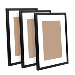 3 pcs Photo Frames Set Wall Black - Home Decoration - ANB Mart