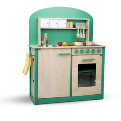 Kids Wooden Play Set Kitchen 8 Piece - Green | Buy Kids Games & Toys Products Online With the Best Deals at Anbmart.com.au!