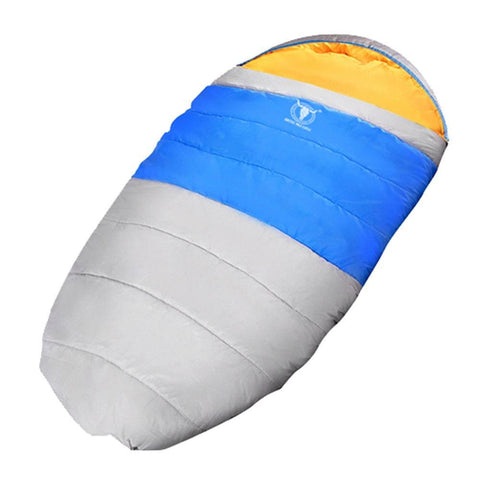 Pebble Shape Thermal Sleeping Bag 190 x 100cm Blue - Camping & Hiking - ANB Mart