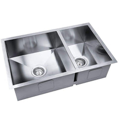 Stainless Steel Kitchen/Laundry Sink w/ Strainer Waste 715x450mm | Buy Kitchen, Dining & Bar Products Online With the Best Deals at Anbmart.com.au!