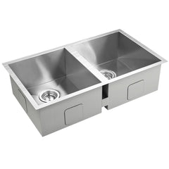 Stainless Steel Kitchen/Laundry Sink w/ Strainer Waste 770 x 450 mm | Buy Kitchen, Dining & Bar Products Online With the Best Deals at Anbmart.com.au!