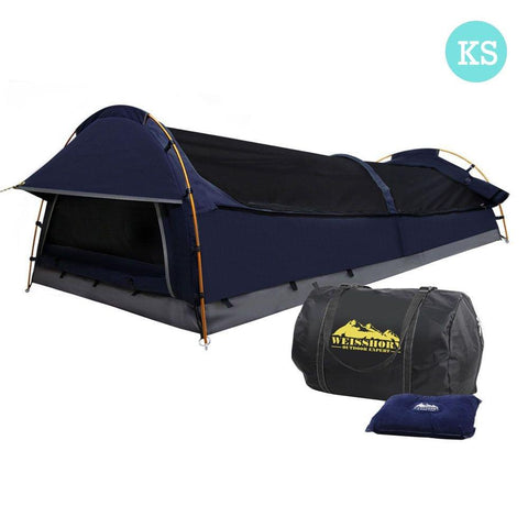 XXL Deluxe King Single Swag Camping Swag Navy - Camping & Hiking - ANB Mart