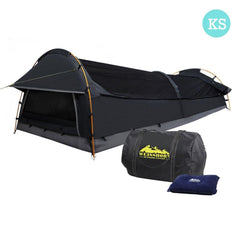 XXL Deluxe King Single Swag Camping Swag Grey | Buy Camping & Hiking Products Online With the Best Deals at Anbmart.com.au!