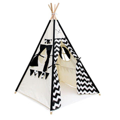 4 Poles Teepee Tent w/ Storage Bag Black | Buy Kids Games & Toys Products Online With the Best Deals at Anbmart.com.au!
