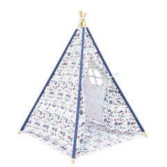 4 Poles Teepee Tent w/ Storage Bag White Green | Buy Kids Games & Toys Products Online With the Best Deals at Anbmart.com.au!