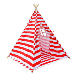 4 Poles Teepee Tent w/ Storage Bag Red | Buy Kids Games & Toys Products Online With the Best Deals at Anbmart.com.au!