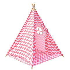 4 Poles Teepee Tent w/ Storage Bag Coral | Buy Kids Games & Toys Products Online With the Best Deals at Anbmart.com.au!
