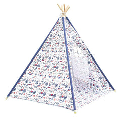 5 Poles Teepee Tent w/ Storage Bag White Green | Buy Kids Games & Toys Products Online With the Best Deals at Anbmart.com.au!
