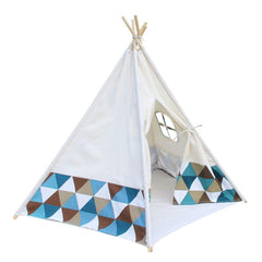 5 Poles Teepee Tent w/ Storage Bag | Buy Kids Games & Toys Products Online With the Best Deals at Anbmart.com.au!
