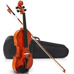 Full Size 4/4 Natural Wooden Beginner Violin Set Brown | Buy Music, Studio & Accessories Products Online With the Best Deals at Anbmart.com.au!