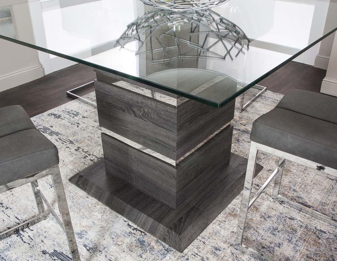 Alpha Charcoal Counter Height Dining Table - MJM Furniture