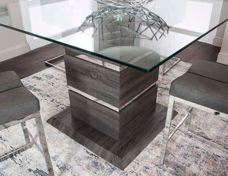 Gamma Charcoal Counter Height Dining Table - MJM Furniture