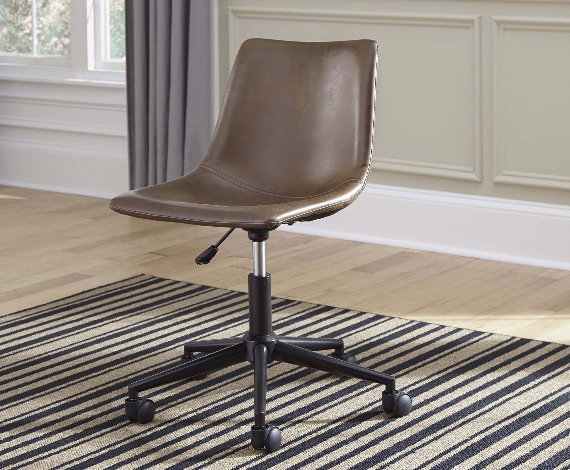 Brown Swivel Office Chair - MJM Furniture