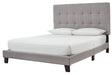 Adelloni Gray Upholstered Bed - MJM Furniture