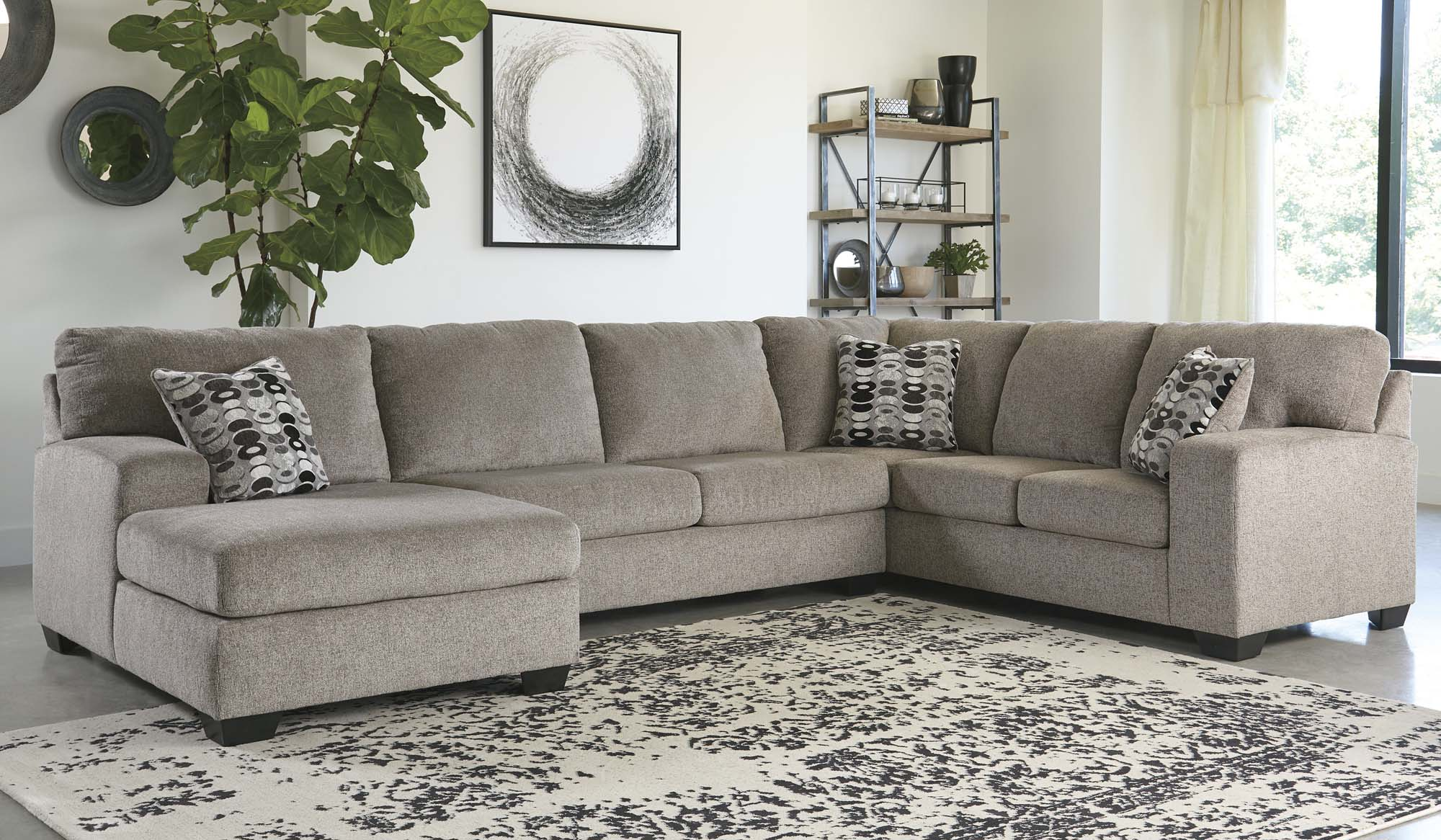 Ballinasloe Platinum 3 Piece Sectional - MJM Furniture