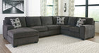 Ballinasloe Smoke 3 Piece Sectional - MJM Furniture