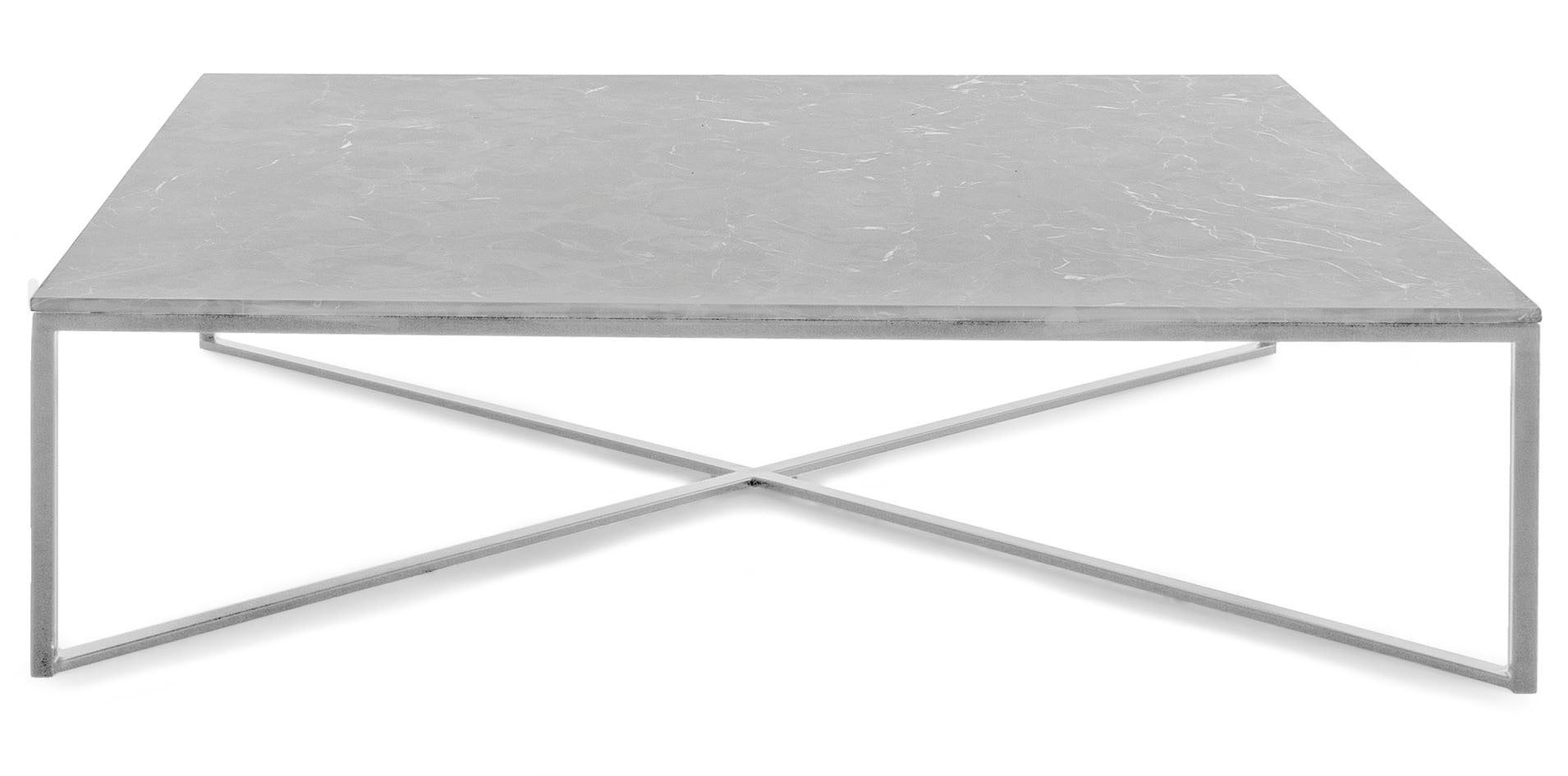 Luna White Marble Coffee Table - MJM Furniture
