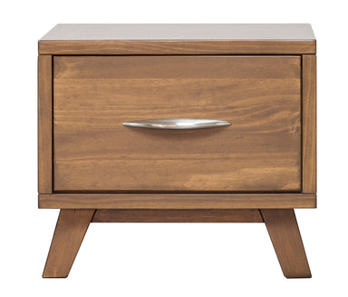 Soho Caramel Pine 1 Drawer Nightstand - MJM Furniture