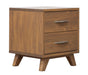 Brandon Caramel Pine 2 Drawer Nightstand - MJM Furniture