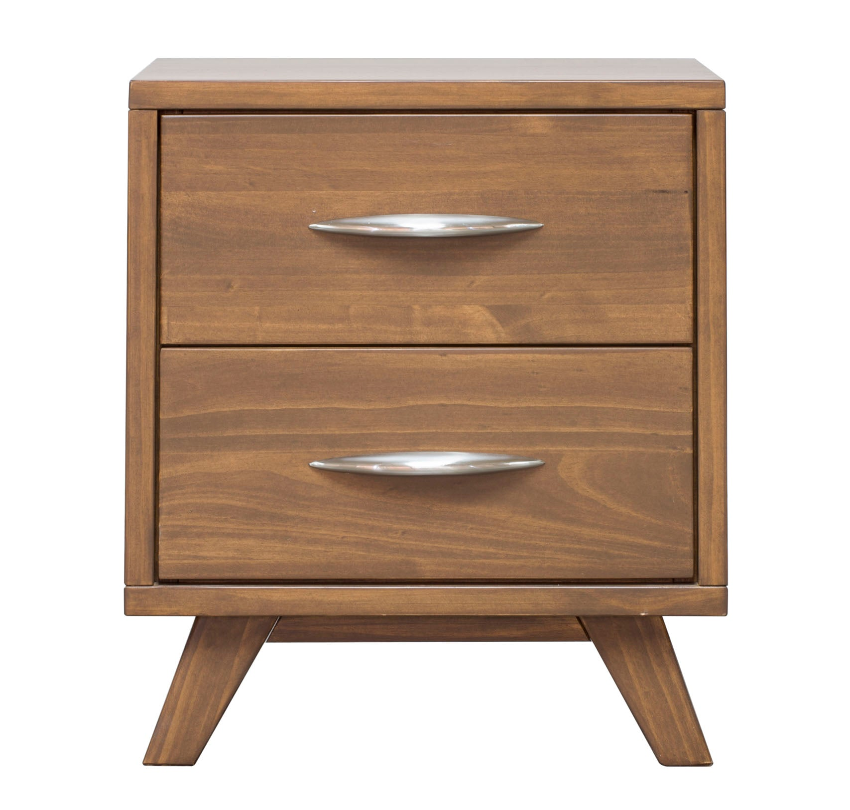 Soho Caramel Pine 2 Drawer Nightstand - MJM Furniture